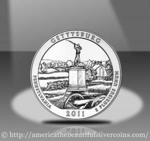2011 Gettysburg Silver Bullion Coin
