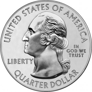 America the Beautiful Silver Bullion Coin Obverse