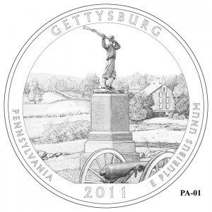 Gettysburg Coin Design Candidate PA-01