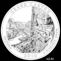 Grand Canyon Silver Coin Design Candidate AZ-01