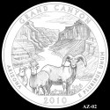 Grand Canyon Silver Coin Design Candidate AZ-02