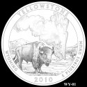 Yellowstone Silver Coin Design Candidate WY-01