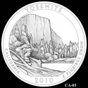 Yosemite Silver Coin Design Candidate CA-03