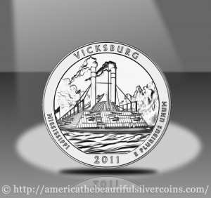 2011 Vicksburg Silver Bullion Coin