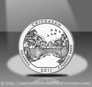 2011 Chickasaw Silver Coin